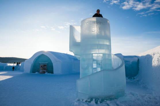 TOPSHOT-SWEDEN-LAPLAND-ICE-HOTEL