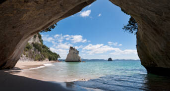 Cathedral Cove Coromandel Peninsular New Zealand