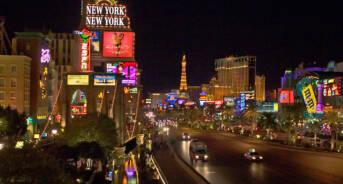 Las Vegas strip near New York, NY