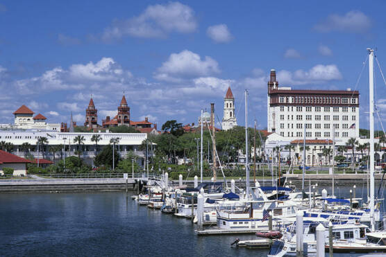 USA, Florida, St. Augustine, View Of City