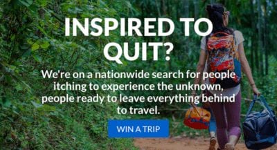 Want to Quit Your Job and Travel? Eagle Creek has your Chance!