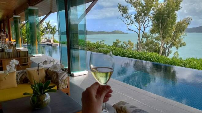 Qualia resort on Hamilton Island in the Whitsundays of Australia.