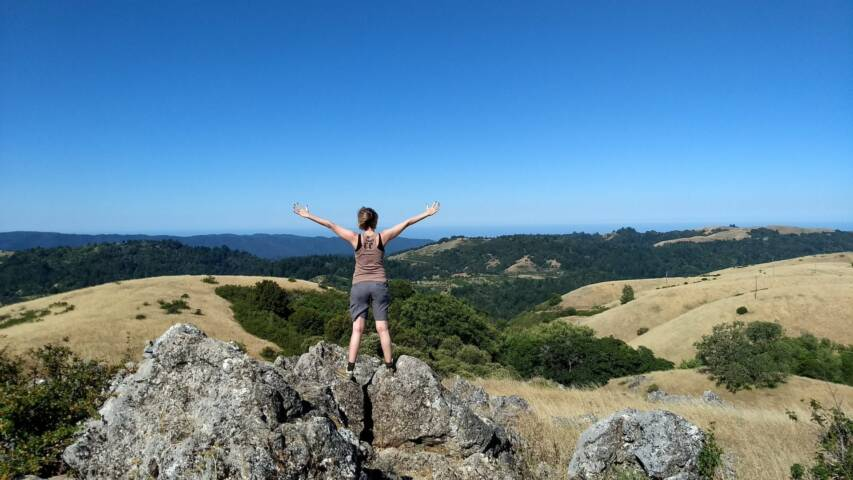Feeling on top of the world on a hike with Skylonda Lodge.
