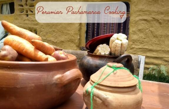 Pachamanca earth oven meal in Peru