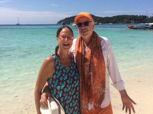 Peta Kaplan and Ben Sandzer-Bell in Koh Lipe Thailand Dec 2018