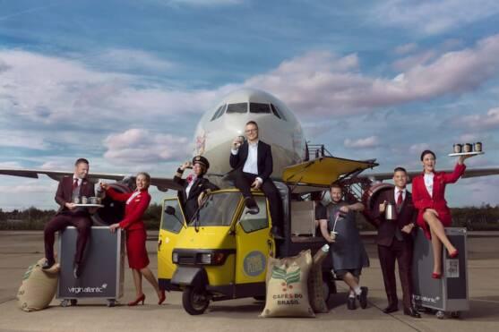 Virgin Atlantic airlines and Change Please Partnership