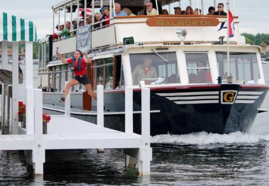 Walworth Mail Boat; photo courtesy of Cruise Lake Geneva.