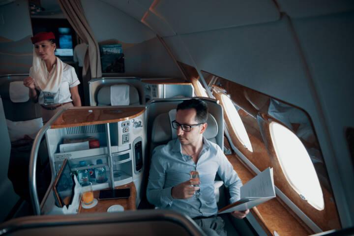 Luxurious Business Class Flight Accommodations