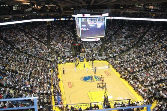 An on-going basketball match