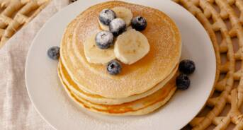 Blueberry Pancake Breakfast Table Setting