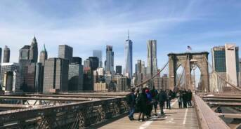 Biking the Brooklyn Bridge