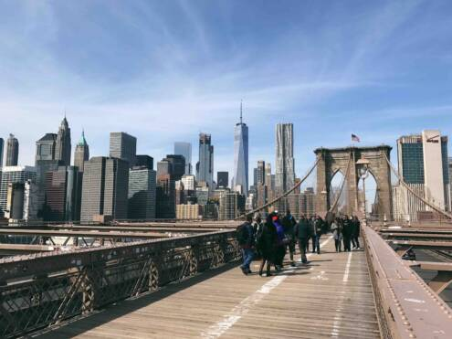 Biking the Brooklyn Bridge