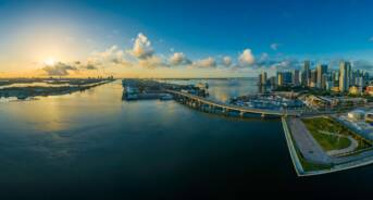 Panoramic View of Miami Beach, Florida