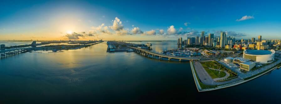 Panoramic View of Miami Beach, Florida